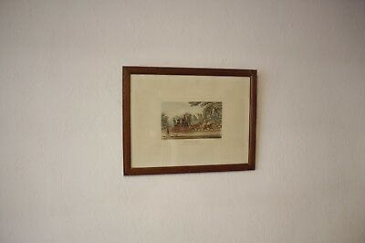 vintage framed Royal Mail Coach J.Pollard 1829 engraved F.Rosenberg original