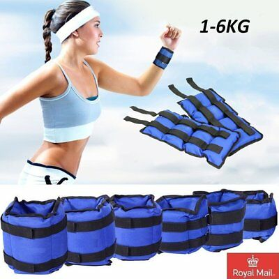 1-6kg Leg Ankle Wrist Weight Straps Strength Training For Fitness Yoga Running