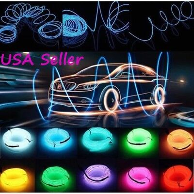 Neon led light glow el wire string strip rope tube decor car party neon led light glow el wire string strip rope tube decor car party controller aloadofball Images