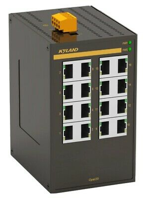 16 Way Industrial 24VACDC Ethernet Switch