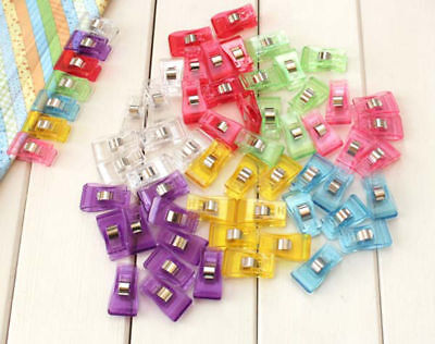 100 PCS Pack Wonder Clips for Crafts Quilting Sewing Knitting Crochet #B