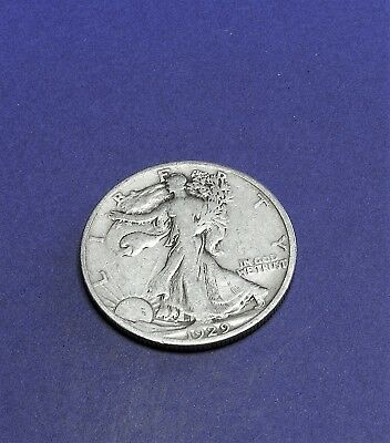 1929S circulated Walking Liberty Half