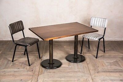 Double Pedestal Small Kitchen Table 120Cm Bar Small Dining Room Table More Tops