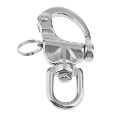 Marine//Sailing//Boat//Yacht 68mm 316 Stainless Steel Swivel Snap Shackle