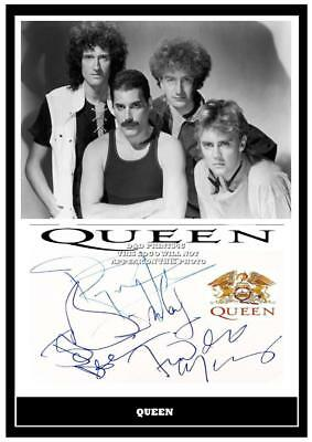 124. queen freddie mercury signed photograph reprint great gift