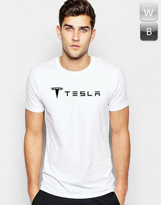 Tesla T-shirt Electric Car Roadster Elon Gift Graphic Print Cool Unisex Tee T