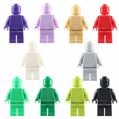 ... 30pcs lot DIY Multicolor Blank People mini figures Building Blocks Toys