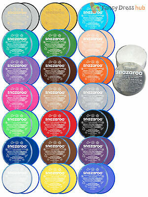 Snazaroo 18ml 75ml Face & Body Paint Tub Fancy Dress Stage Make Up Theatre