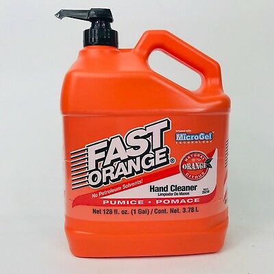 Fast Orange Permatex Hand Cleaner Pumice 1Gal Infused With Microgel Tech
