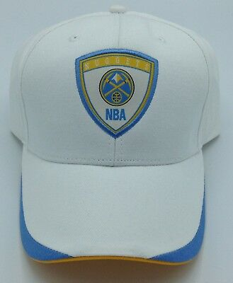 new product 6ba00 37f52 NBA Denver Nuggets NBA Elevation Adult Structured Adjustable Fit Cap Hat NEW !