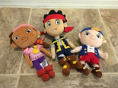 Disney Store Jake and the Neverland Pirates Plush Doll & Izzy Cubby