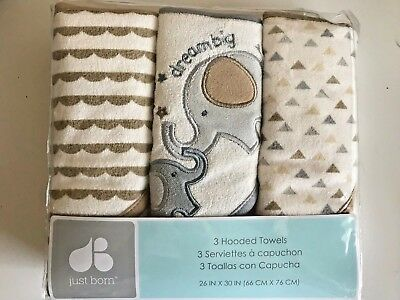 Baby Hooded Towels Elephant  New