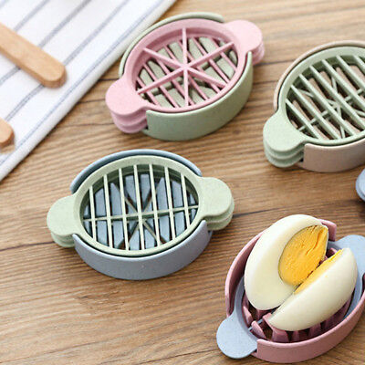 Triple Mould Eggcutter Cutter Blue Pink Dining Kitchen Tool