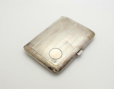 Art Deco Sterling Silver Coin Card Case with Mirror & Compartment