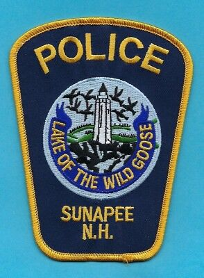 Sunapee Police Dept Patch ~ New Hampshire ~ Very Nice Artwork & Awesome Colors