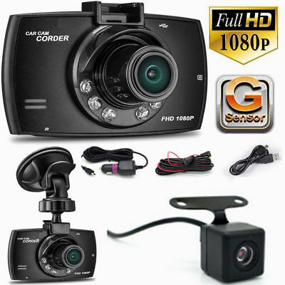 "2.7"" Dual Lens Camera Car DVR Video Night Vision Dash Cam Front Rear Recorder UK"