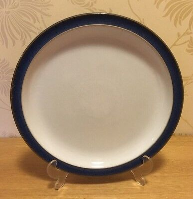 """Denby Imperial Blue - ONE (1) 10 1/4"""" 26 cm Dinner Plate #2 A/F"""