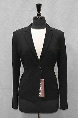 C5 NEW MAX MARA STUDIO Solista Black Single Button Blazer Jacket Size 14 $595