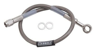 Russell 657010 Competition Brake Line Assembly; 10mm Banjo To Straight -3