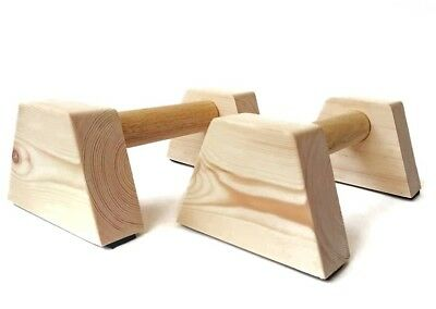 The Original Mini Wooden Parallettes 25x15x11cm Non-Slip Feet Yoga Gym Fit