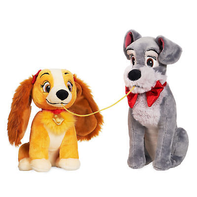 NWT Disney Store Authentic Lady And The Tramp Toy Stuffed Animals Plush