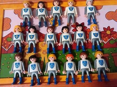 PLAYMOBIL LOTE FIGURAS X15 CABALLEROS FLOR DE LIS MEDIEVALES KNIGHTs cavaliers