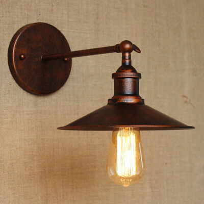 Industrail Warehouse Barn Adjustable LED Wall Sconce with Metal Saucer Shade