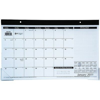 2019 At-A-Glance SK14-00 Compact Desk Pad Calendar, 17-3/4 x 10-7/8""