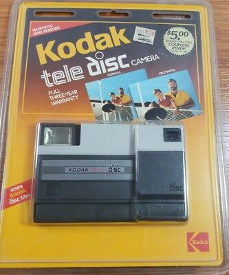 Kodak Tele Disc Camera New In Package 35mm Camera