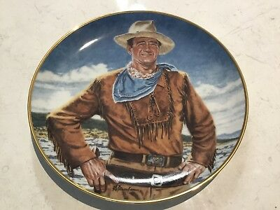 "John Wayne Franklin Mint Plate ""The Duke"" Plate No. X1976 - as New"