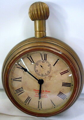 Vintage Two's Company Large Brass Pocket Watch / Clock