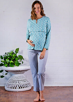 NEW - Lait & Co - Uzelle Nursing Maternity PJ Set