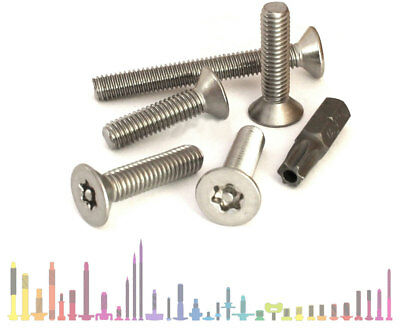 STAINLESS STEEL TORX ANTI TAMPER VANDAL PROOF BOLTS COUNTERSUNK SECURITY SCREWS