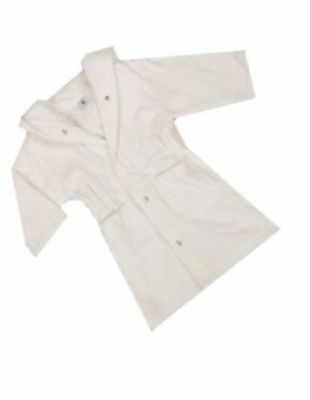 EX- PETIT BATEAU WHITE BABY DRESSING GOWN / ROBE 9-12 12-18 18-24 months