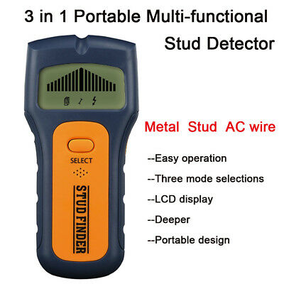 3In1 Stud Finder Wire Metal Wood Detectors Find It Behind Wall With LCD Display