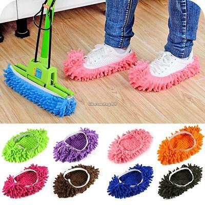New 1 Pcs Multifunctional Shoe Cleaning Mop Covers Cleaning Foot Socks C1MY