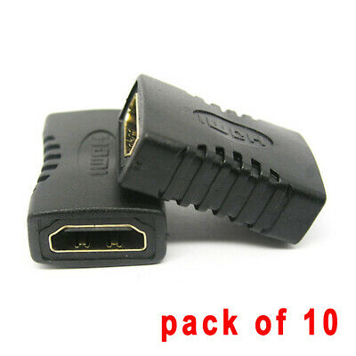 10X Hdmi Extender Female To Female Coupler Adapter Joiner Connector 1080P Hdtv