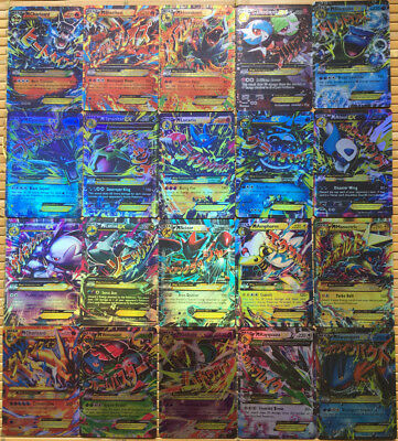 Pokemon TCG 100pcs Flash Card Lot Rare 80 EX + 20 MEGA Cards NO REPEAT Kids Gift