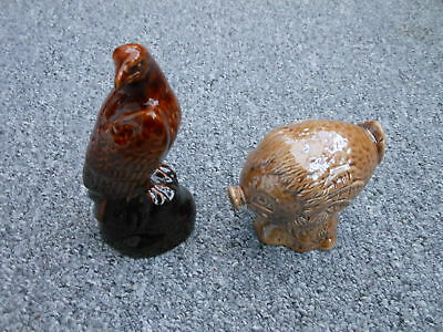 Beswick pottery Beneagles scotch whisky flasks Haggis and Eagle