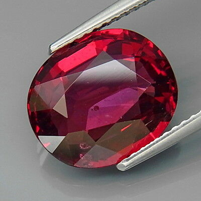 6.26Ct.Ravishing Color&Full Fire Natural BIG Cherry Pink Rhodolite Garnet Africa