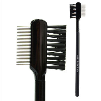 Deluxe Duo Comb Brush Lash Eyebrow Cosmetic Makeup Eyelash Extension