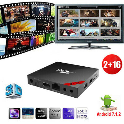 X96 2+16G Android 7.1.2 TV Box H.265 HDR10 S905W Quad Core 1080P WiFi TF Mini PC