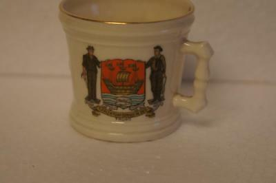 Goss Crested China Bridlington Elizabethan Quart Measure With Truro Crest.