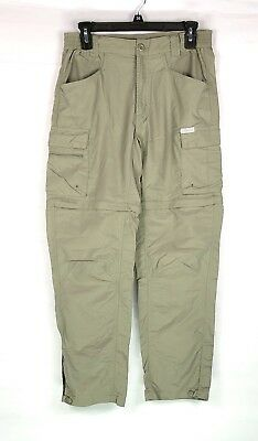 Columbia Women Convertible Pants Shorts Sz S Olive Green Titanium Cargo Packable