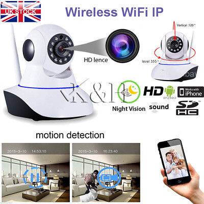 Wireless Pan Night Vision Tilt HD 720P WiFi IP Camera Home Shop Security CCTV IR