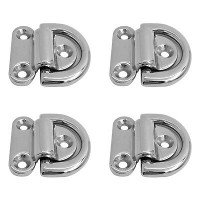 4 Pcs Heavy Duty Folding D Ring Tie Down Lashing Point Anchor Fixing Cleat