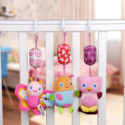 Sozzy Baby Rattles Plush Butterfly Stroller Hanging Bed Bell Educational Toy New