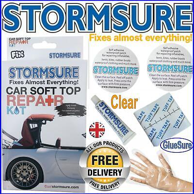 Car Soft Top Roof Convertible Hood Repair Kit Includes Patches & Glue Stormsure
