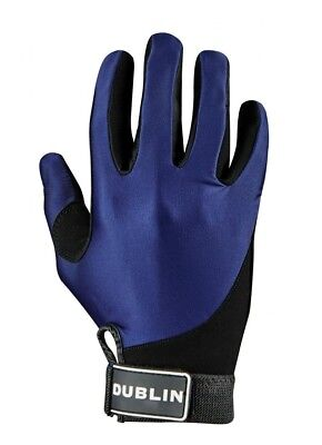 (Large, Navy) - Dublin All Seasons Riding Gloves. Shipping is Free
