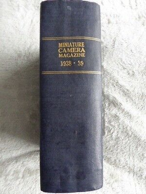 Miniature Camera Magazine 1938 - 1939.  Bound copies